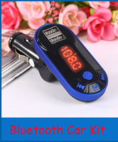 HIgh Quality New Car LCD Bluetooth Handfree Car Kit MP3 FM Transmitter USB Charger Hands Free