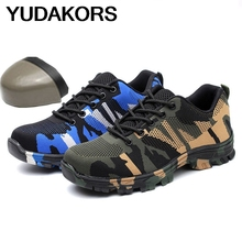 YUDAKORS new men's steel toe cap safety shoes anti-mite breathable safety shoes durable work protective shoes YD256