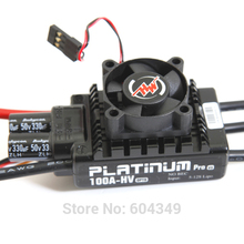 HobbyWing Platinum-100A-HV-V3 RC Model Brushless ESC for Multicopter for 550-600 class (helis)