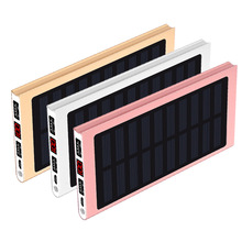20000mah Solar Power Bank External Battery 2 USB Powerbank P