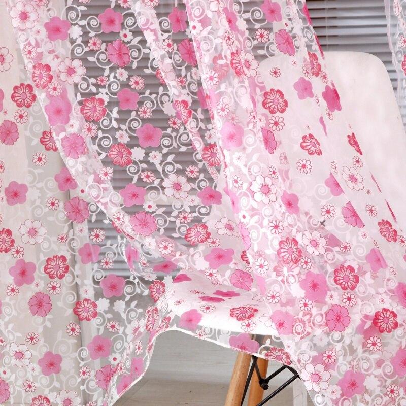 2017 Elegant Floral Tulle Voile Window Curtain Panel Sheer Drape ...