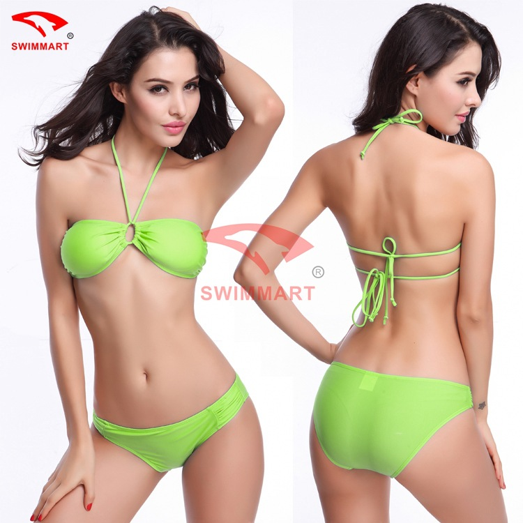 SWIMMART Women's Swimsuit Swimwear Lady <font><b>Sexy</b></font> Chest Pad <font><b>Beachwear</b></font> Bandage Push-up <font><b>Bikini</b></font> Set Suit Swim Wear <font><b>XL</b></font> image