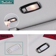 Tonlinker Cover case Stickers For Kia Sportage 2016-17 KX5 car styling 2 pcs stainless steel Makeup mirror light Cover stickers