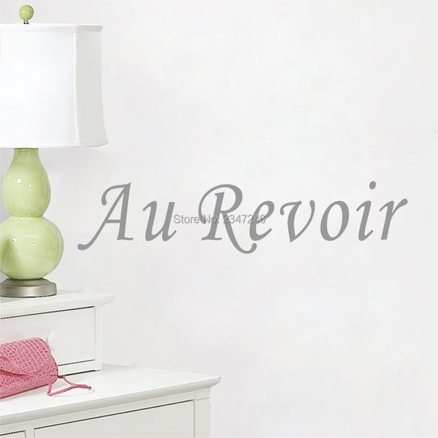 French Quote Goodbye Home Stickers Wall Art Decorations For Living Room Sitting Decor