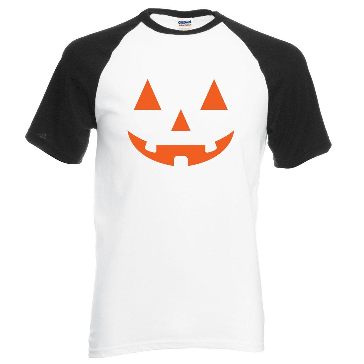 JACK O'Lantern Pumpkin Halloween 2019 new summer t shirt 100% cotton high quality raglan men t-shirt casual loose fit top tees