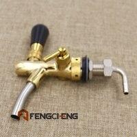 Flow Restrictor Draft Tap w/ Plastic Nozzle, Beer Tap(Faucet), Kegging Equipmen, Golden Plated