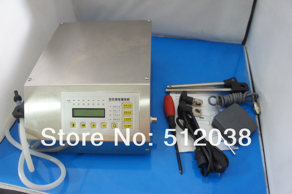 GFK-160  Compact Digital Control Pump Liquid Filling Machine , 2-3500ml very precisely  English/chinese panel  110V/220V zonesun pump for liquid filling machine gfk 160