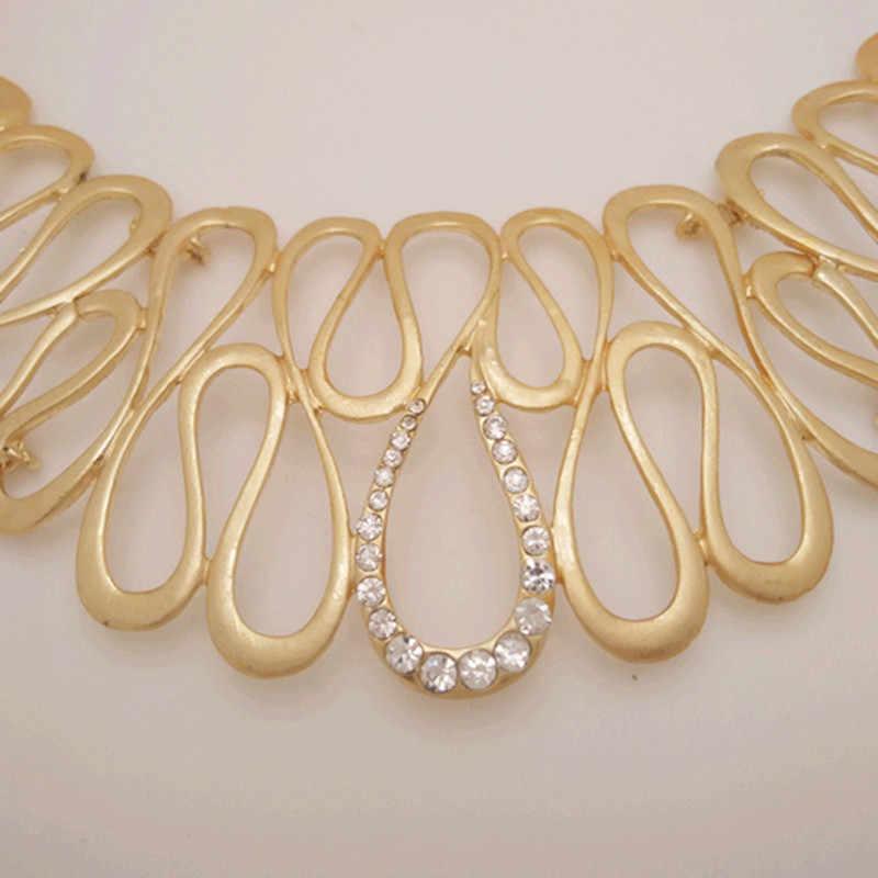 Мама Королевства Новый Дубай большой чокер нигерийские Свадебные бусы комплект ювелирных изделий Круглый ожерелье для женщин вечерние африканская бижутерия наборы