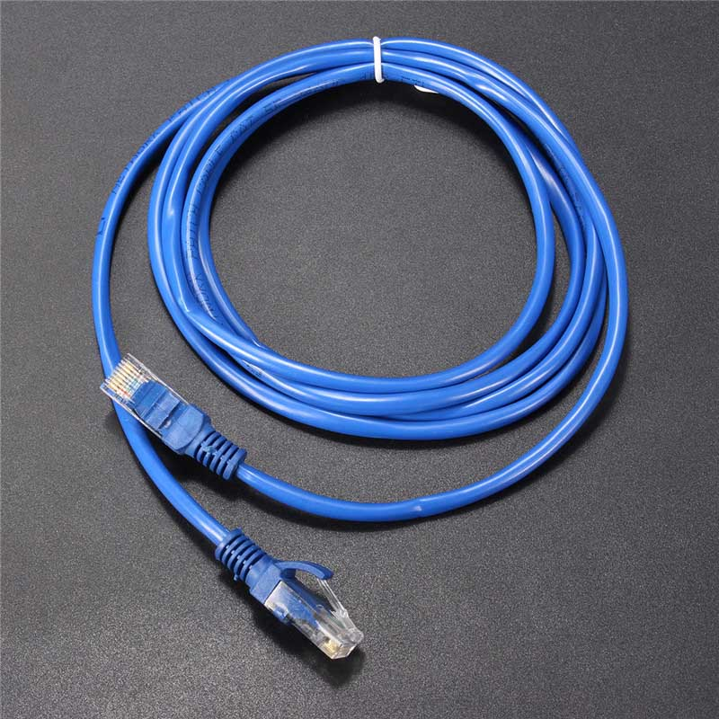 2M UTP Ethernet Cable Male to Male Internet Cat 5 RJ45 Network LAN Cable Patch Connector Cord Tools For PC Computer Laptop Blue jewellery