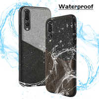 Canvas Phone Case For Huawei P30 P10 Plus P20 Lite Mate 9 10 Pro P SMART 2019 stitching Card slot For Honor 8X Note 9 V10 Nova 3