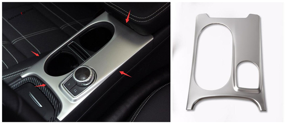 Interior For Mercedes Benz CLA 200 220 W117 2014 - 2017 Stainless Steel Water Cup Holder Protection Panel Frame Cover Trim 1 pcs