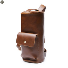 Barrel-shaped Brand Men Bags Leather Fashion Male Messenger Bags Men's Briefcase Man Casual Crossbody Shoulder Bag Hot Sale