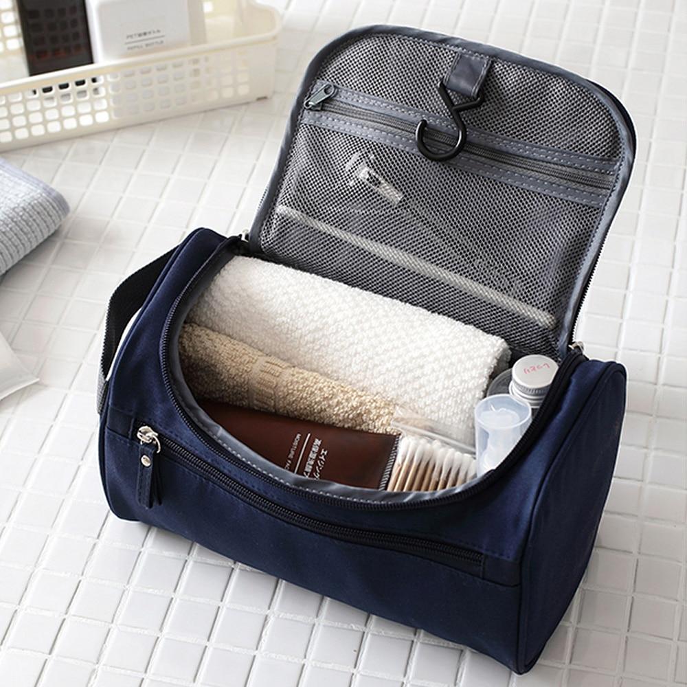 Saco de maquiagem barato feminino sacos homens grande impermeável náilon viagem saco de cosméticos organizador caso necessáries compõem lavagem saco de higiene pessoal