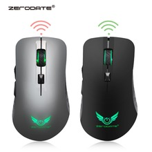 Original ZERODATE Rechargeable 2.4G Wireless Gaming Mouse Mice with 600Mah Lithium Battery, 7 colors backlit
