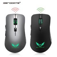Original ZERODATE Wiederaufladbare 2 4G Wireless Gaming Maus Mäuse mit 600 Mah Lithium Batterie  7 farben backlit-in Mäuse aus Computer und Büro bei