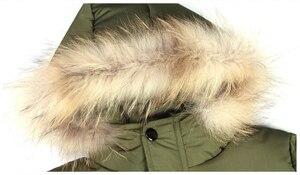 Image 3 - 4 ~ 15 세 어린이 소년 겨울 자켓 패션 디자인 소년 겨울 파카 면화 패딩 모피 후드 어린이 따뜻한 코트 겉옷