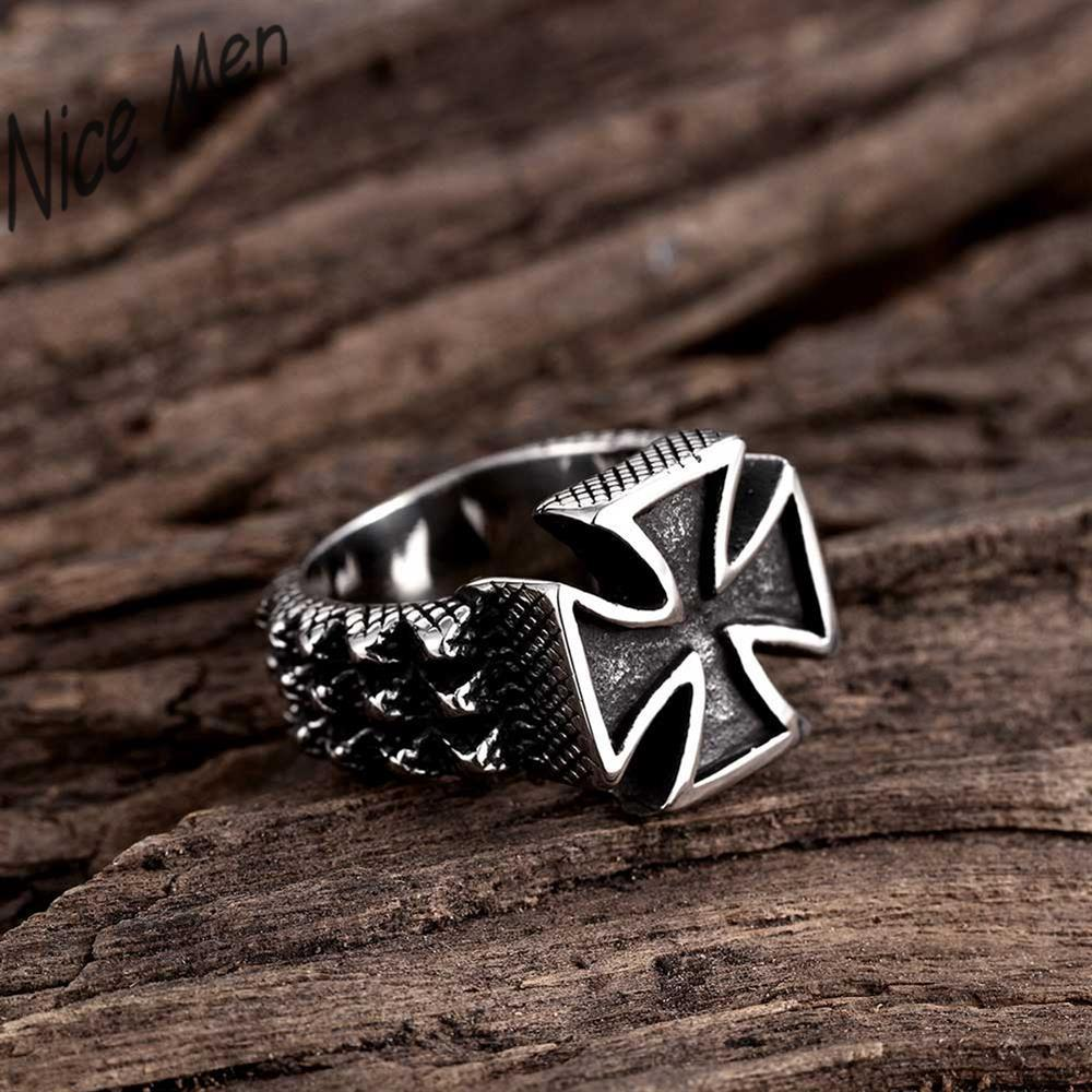 big cross cool man fingers wearing GMYR224 Unique Star celebrity men styles ring