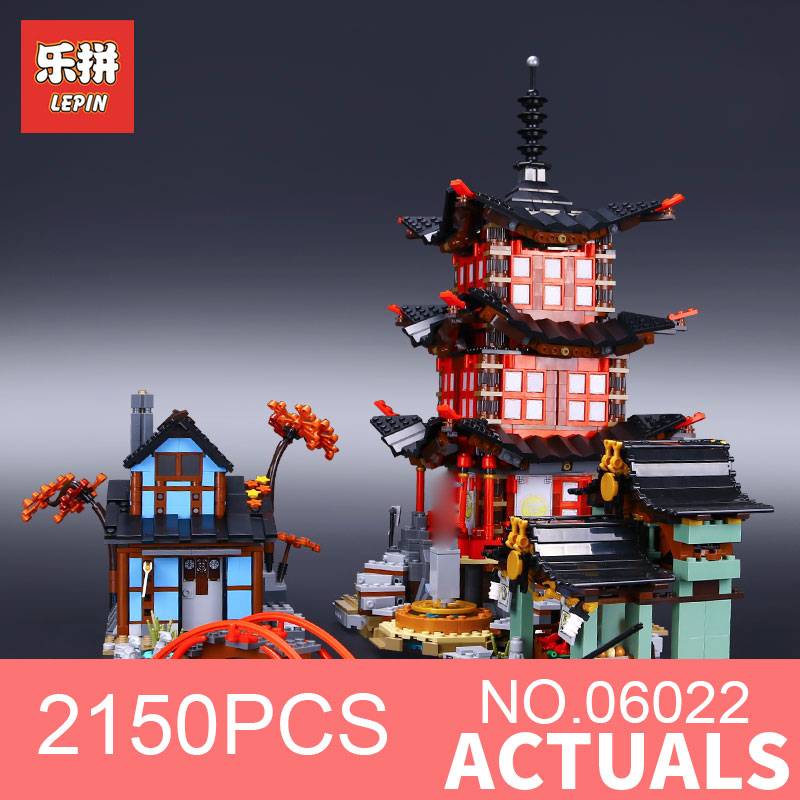 Lepin 06022 2150Pcs Building Series The 70751 Temple of Airjitzu Set Buidling Blocks Bricks Assemblage Toys Collectable Kid Gift in stock 2150pcs lepin 06022 city of stiix building blocks temple of airjitzu anime figures kids bricks toys clone 70751