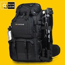 Горячая продажа профессионального novagear дважды сумка камеры противоударный водонепроницаемый открытый большой емкости зеркальная камера сумка
