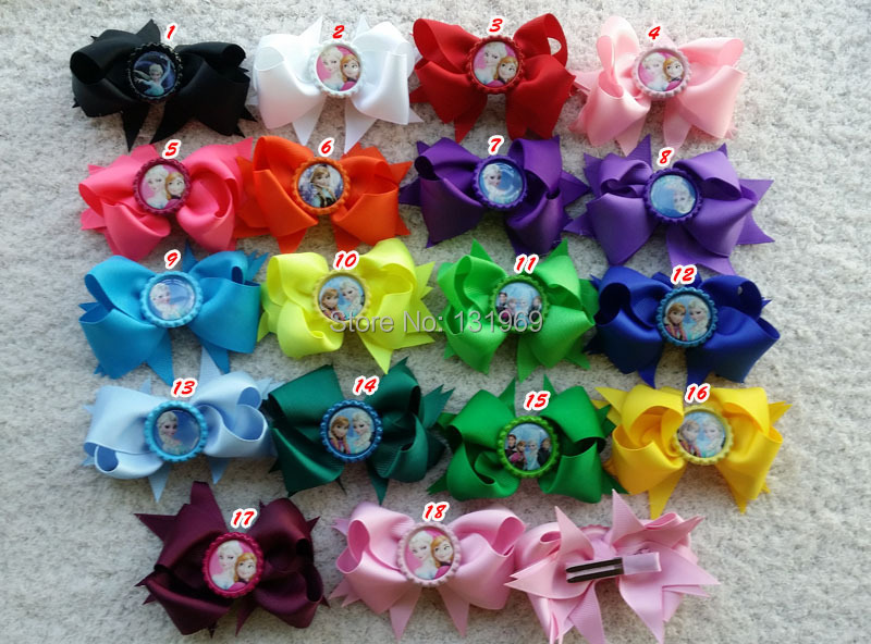 """11pcs 11"""" Girl Toddlers Grosgrain sister Flattened Bottle Caps hair ..."""