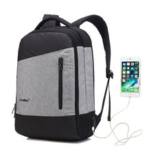 d9eea26e9fff9 USB Şarj Sırt Çantası Için Macbook Hava 15 15.6 17.3 Laptop lenovo için  çanta ASUS HP