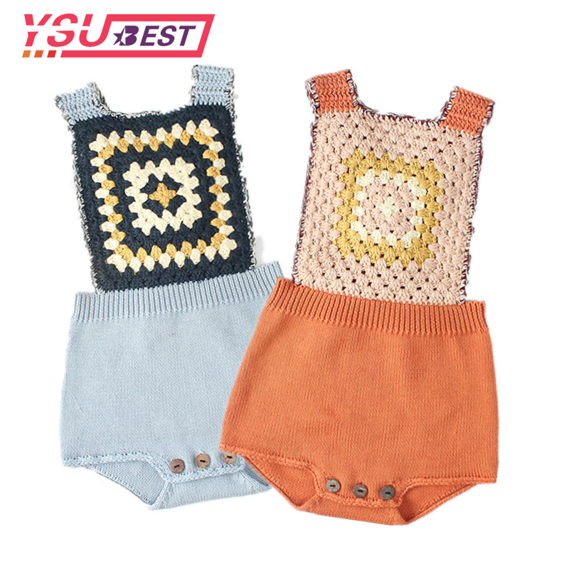 Knitted Rompers For Babies Spring Autumn Girl Baby Romper Set Infant Boys Clothes Jumpsuit Woolen Vintage Baby Clothes Overalls image