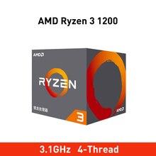 Nouveau processeur dordinateur de bureau amd ryzen 3 1200 cpu 3.1GHz processeur Quad Core AM4 TDP 65W Cache 14nm