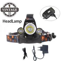 3T6 LED RJ5000 Rechargeable Head Lamp 8000 lumens Headlight Hunting Lamp floodlight flashlight Fishing Lights