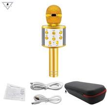 WS858 профессиональный беспроводной микрофон для караоке динамик конденсаторный микрофон с сумкой Bluetooth Радио Студия Запись микрофон PK WS-858