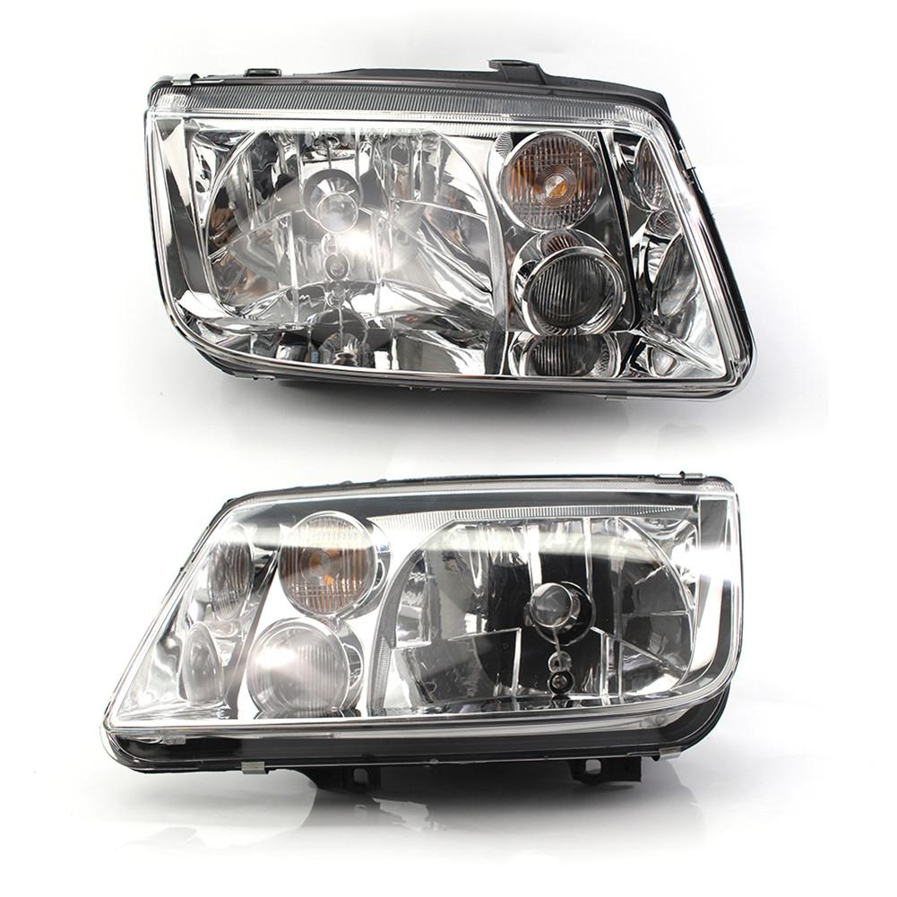 Front Chrome Clear Car Headlights For Volkswagen VW Jetta Bora Mk4 1998~2004 Car Light Assembly Auto Headlamp for chery riich m1 headlights headlight assembly front lights light headlamp 1pcs