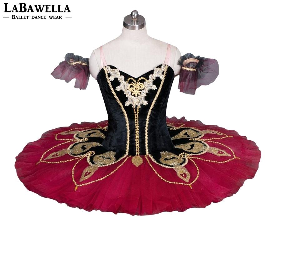 Noir Rouge La Esmeralda Professionnel Tutu BT8936B Filles classique Ballet Tutu Stade Costume Adulte Performance Crêpe Tutus