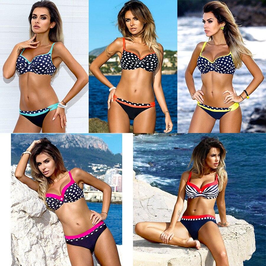 HTB1crBDKkKWBuNjy1zjq6AOypXay bikini swimwear women 2018 sexy bikini set push up swimsuit female two piece swimsuit women halter yellow bikini girl beach wear