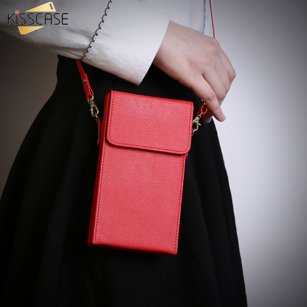 KISSCASE Universal Leather Flip Purse Sleeve S7 Edge For Xiaomi Mi4 Mi5 Redmi Note 3 Pro