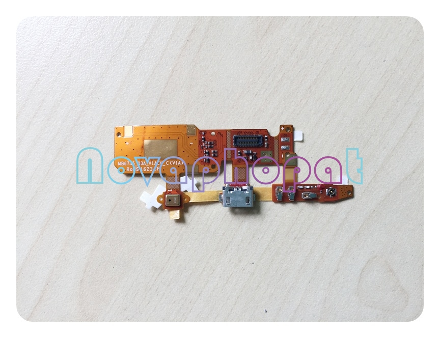 Novaphopat For ZTE Blade A515 A511 USB Dock Charger Charging Port Data Transfer Connect Connector Flex Cable Mic Replacement
