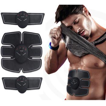 Odchudzanie masażer ciała stymulator mięśni brzucha urządzenie stymulator bezprzewodowy pas ABS domowa siłownia profesjonalny masaż domowy Fitness tanie i dobre opinie zoss Cotton ABS Talii