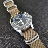 41MM NATO strap ceramic bezel sapphire crystal glass NH35a automatic diver watch mens 300m