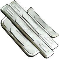 2013 Hyundai IX35 Stainless Steel Scuff Plate Door Sill Strip Welcome Pedal For Hyundai IX35 2010