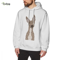 Cute Fawn White Greyhound Sweatshirt For Male Hipster Homme Tee Shirt 100% Cotton