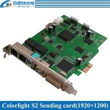 Full Color Display LED cartão de Controle Colorlight S2 Synchronous cartão Envio