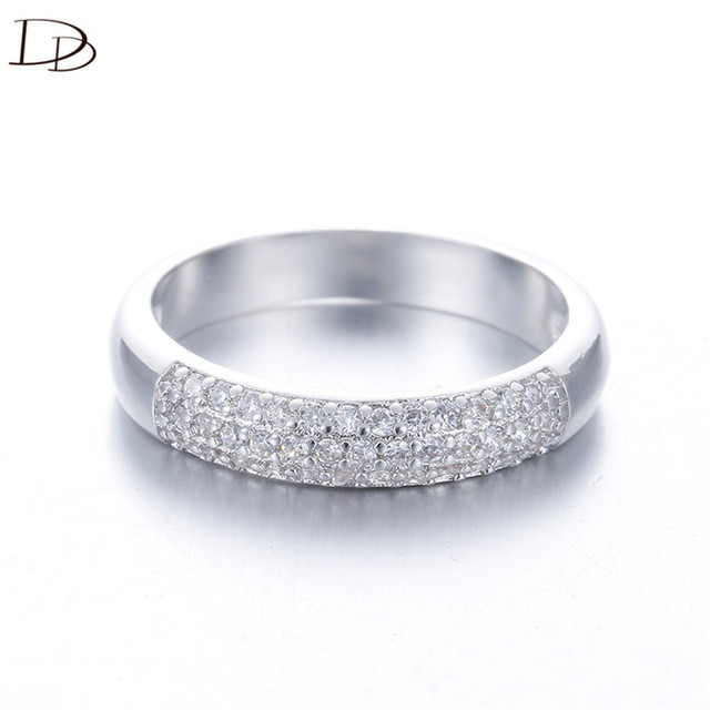 DODO AAA Zircon Rings Silver Color Band Rings Jewelry 5