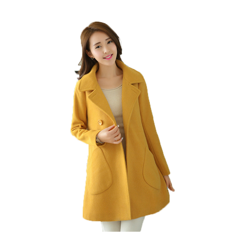 WomensDate 2017 Spring Autumn Women Overcoat Wide-Waisted Long Trench Coat  For Girl's Korean Yellow - Compare Prices On Yellow Trench- Online Shopping/Buy Low Price