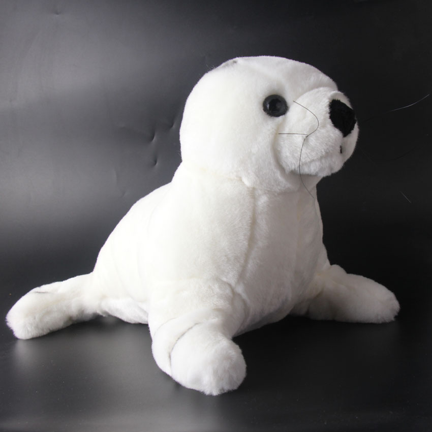 35cm Marine Plush Toys White Seal Plush Toys Soft Sea Dog Doll Stuffed Toys & Plush Animals Valentine's Day Gift middle lovely plush high quality seal toy cute white seal doll gift about 35cm