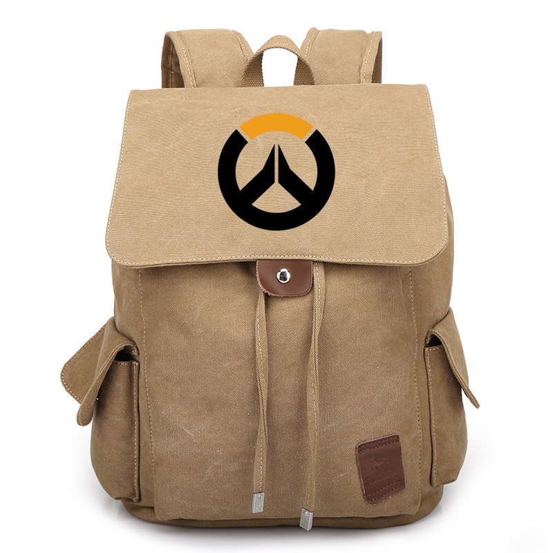 2017 New Game OW Backpack Student School Bags Boobkag Satchel Cosplay Anime Canvas Backpacks Rucksack Fashion Bag Gift new hot anime dragonball z backpack son goku cosplay backpacks dragon ball canvas student school bags unisex travel laptop bags