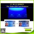 Azul uv impressora Fita 500 impressões/2 rolos para Zebra P310 impressora de cartões P330i P430i J310 J330i Javelin J420i