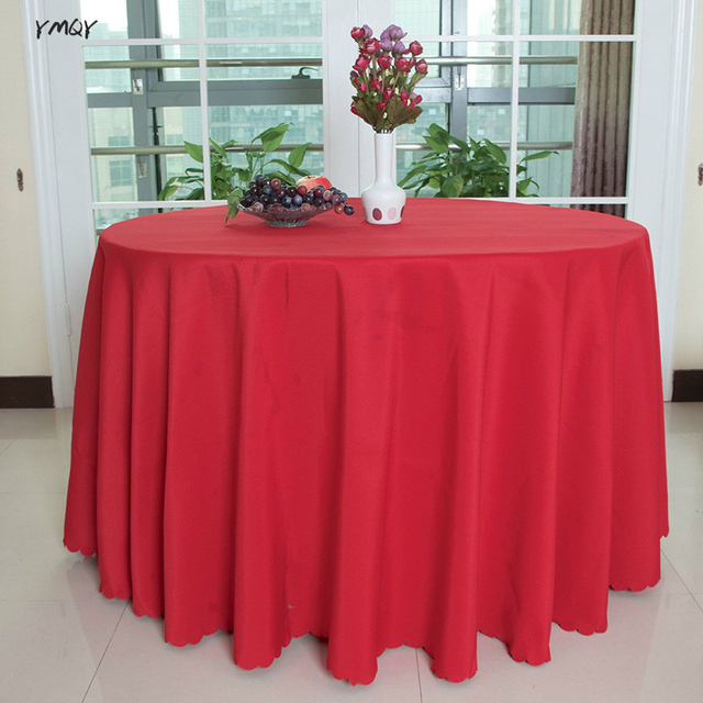 Solid Color Luxry Round/Rectangle Table Covers Polyester Table Cloths Hotel  Home Wedding Baby Shower