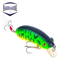 Купить с кэшбэком Topwater Fishing Lure Crankbait 6.5cm 10g Isca Artificial Hard Crank Bait Swimbait Feather Treble Hooks Wobblers Fishing Tackle