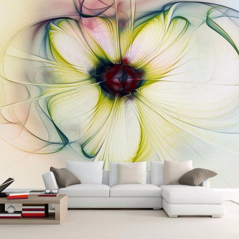 Individuelle Fototapeten Moderne Kunst Abstrakte Blumentapete Schlafzimmer Wohnzimmer Sofa Hintergrund Schne Blume Tapete WandbildChina
