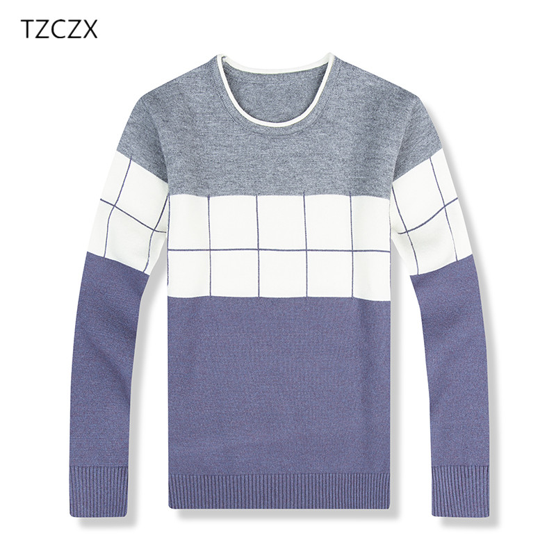 TZCZX 1pcs Children Boys Sweaters Classic Plaid Pattern For 3-8 Years kids Wear