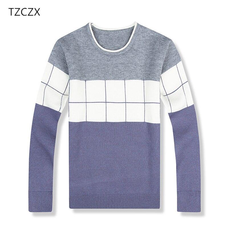 TZCZX 1pcs Children Boys Sweaters Classic Plaid Pattern For 3-8 Years kids Wear