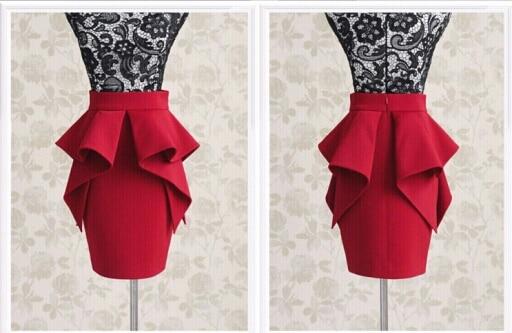 High Waisted Peplum Skirt - Dress Ala